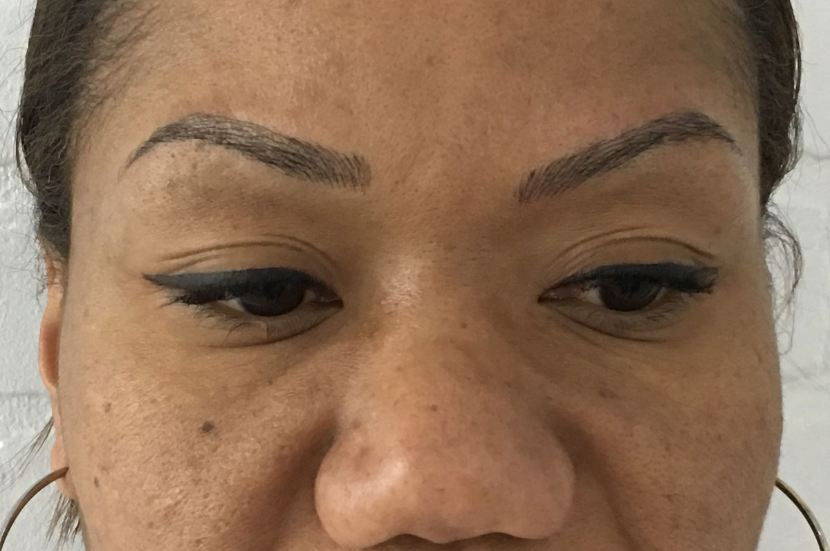 after microblading permanent eyebrows