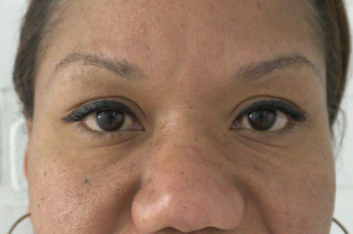 before microblading permanent eyebrows